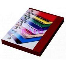 Zadní desky pro kroužkovou a drátěnou vazbu Desky Delta A4, tmavě červené - bordó, imitace kůže