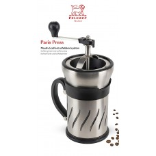 PARIS French press s mlýnkem na zrnkovou kávu 2v1 28 cm - Peugeot