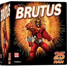 Brutus, kompaktní ohňostroj 25 ran 50 mm