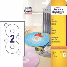 Samolepicí etikety na CD/DVD Avery Zweckform ClassicSize - průměr 117 mm, 50 ks